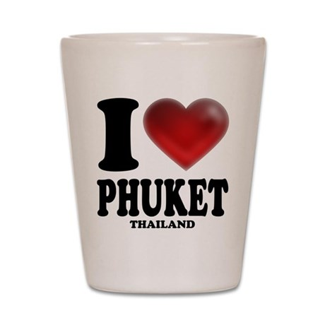 I Heart Phuket Shot Glass