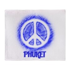 Phuket Peace Throw Blanket