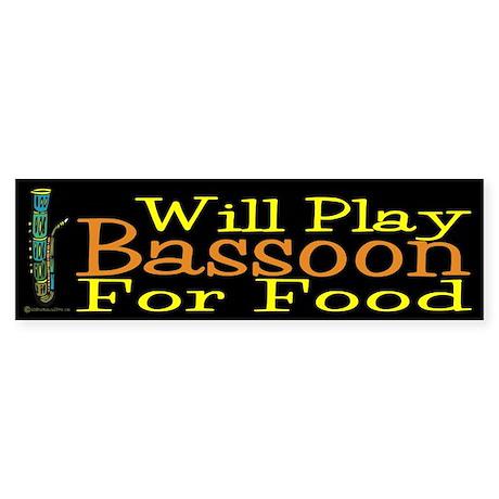 Will Play Bassoon Sticker (Bumper)