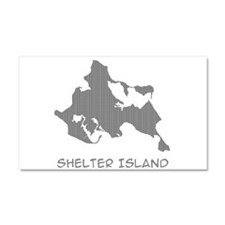 Shelter Island Text Car Magnet 20 x 12