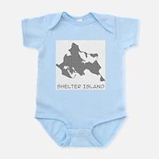 Shelter Island Text Infant Bodysuit