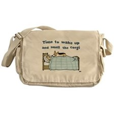 Wake Up and Smell the Corgi Messenger Bag