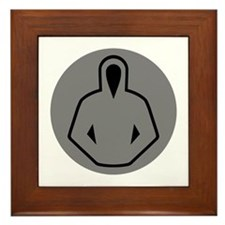 gray hoodie 10 Framed Tile