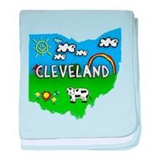 Cleveland, Ohio. Kid Themed baby blanket