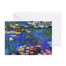 Monet - Water Lilies 1916 Greeting Cards (Pk of 20