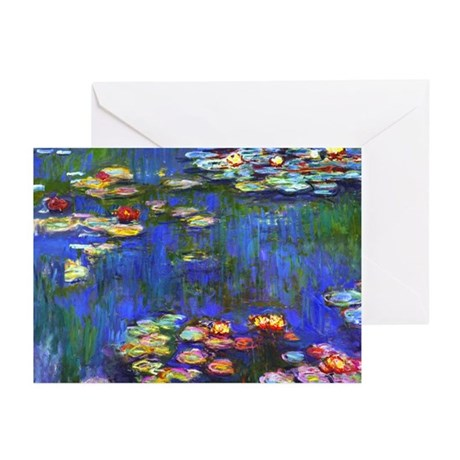 Monet - Water Lilies 1916 Greeting Cards (Pk of 10