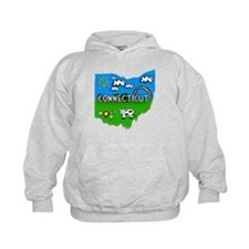 Connecticut, Ohio. Kid Themed Hoodie