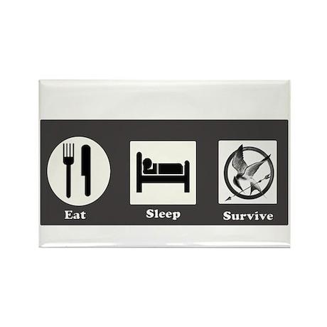 Eat, Sleep, Survive Rectangle Magnet