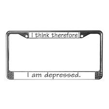 Depressed - License Plate Frame