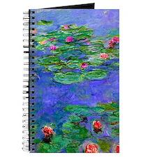 Monet - Water Lilies Red Journal