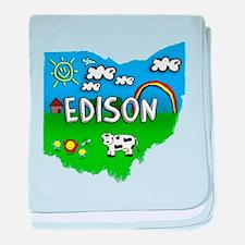 Edison, Ohio. Kid Themed baby blanket
