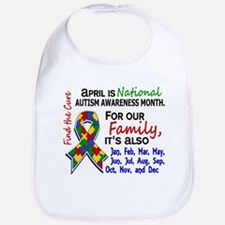 For Our Family 3 Autism Bib