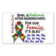 For Our Family 3 Autism Decal