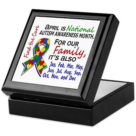For Our Family 3 Autism Keepsake Box