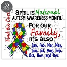 For Our Family 3 Autism Puzzle