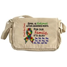 For Our Family 3 Autism Messenger Bag