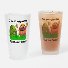 Funny Easter Eggs Drinking Glass