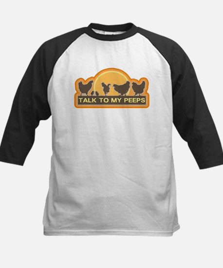 Talk To My Peeps Kids Baseball Jersey