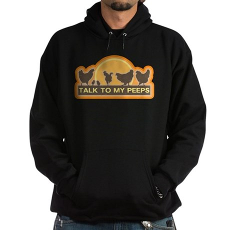 Talk To My Peeps Hoodie (dark)