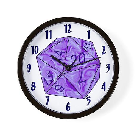 D20 Wall Clock