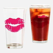 Pink Lipstick Drinking Glass