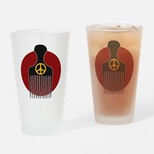 Peace and Nappyness Drinking Glass