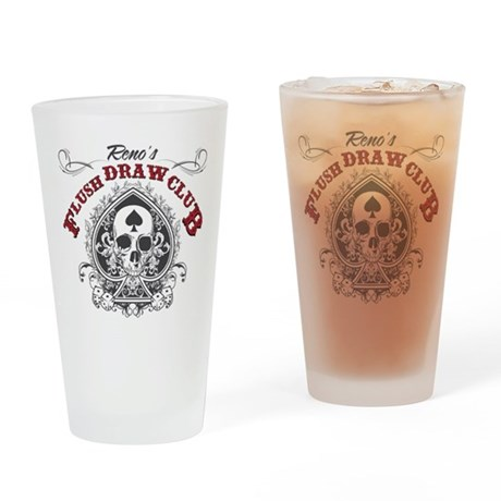 Flush Draw Club Drinking Glass