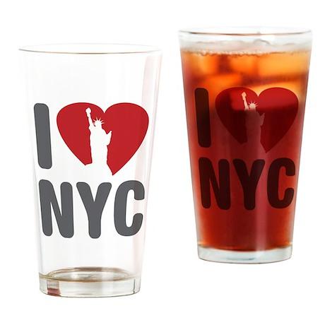 I Love NYC Drinking Glass