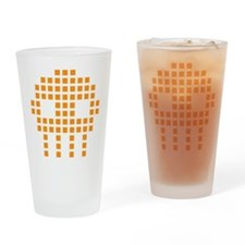 Retro Invader Drinking Glass