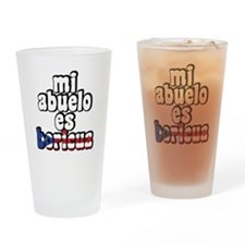 Mi Abuelo Es Boricua Drinking Glass