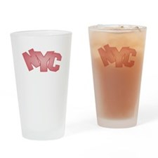 NYC Strawberry Logo Drinking Glass