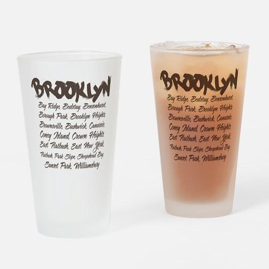 Brooklyn Hoods Drinking Glass