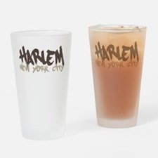 Harlem Painted Drinking Glass