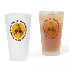 Save a Horse Drinking Glass
