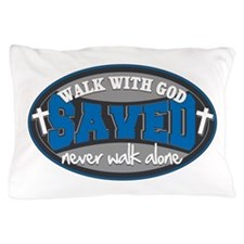 Walk With God(Blue) Pillow Case