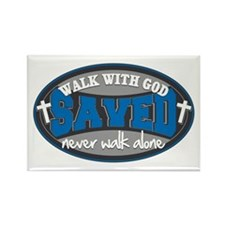 Walk With God(Blue) Rectangle Magnet