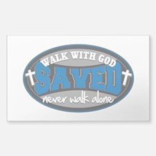 Walk With God(Blue) Decal