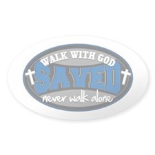Walk With God(Blue) Stickers