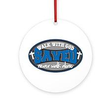 Walk With God(Blue) Ornament (Round)