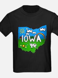 Iowa, Ohio. Kid Themed T