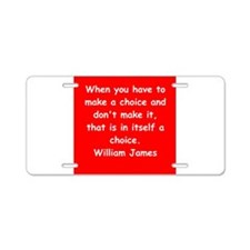 william james gifts and apparel Aluminum License P