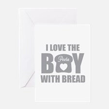 HG I love the boy with bread Greeting Card