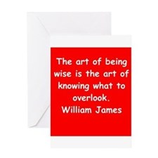 william james Greeting Card
