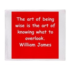 william james Throw Blanket