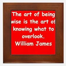 william james Framed Tile