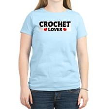 CROCHET Lover Women's Pink T-Shirt
