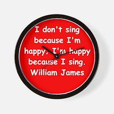 william james Wall Clock