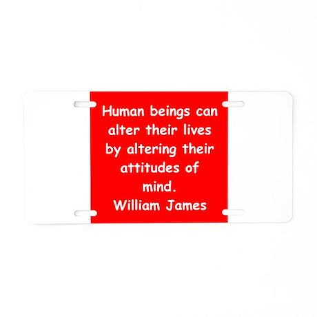 william james Aluminum License Plate