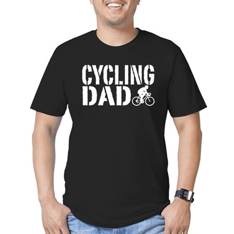 Cycling Dad Men's Fitted T-Shirt (dark)