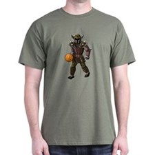 Warrior knight with basketball T-Shirt